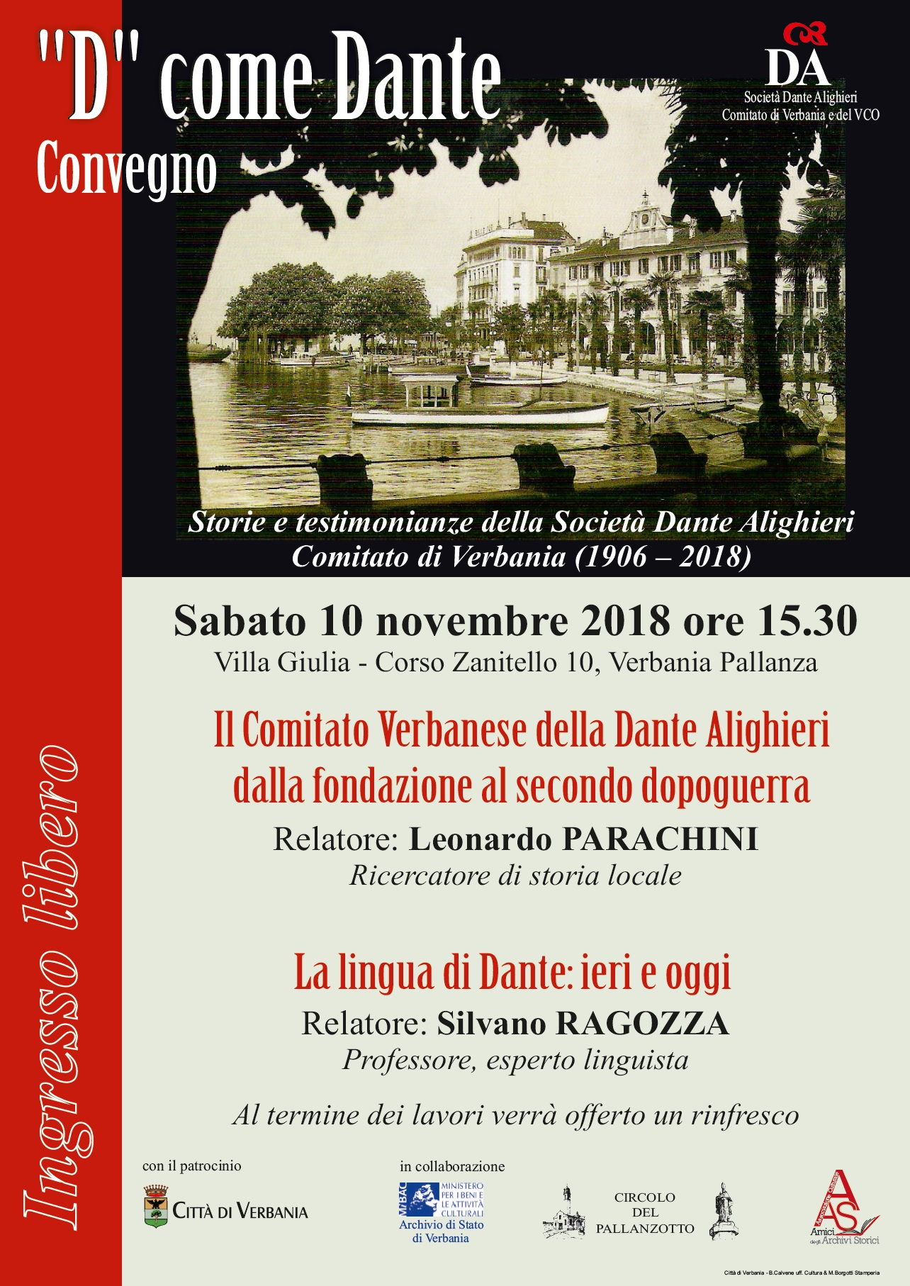 Verbania. D come Dante